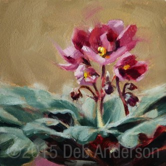 """""""Oil Painting: African Violet"""" original fine art by Deb Anderson"""
