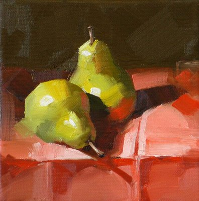 """""""On Red Napkin"""" original fine art by Qiang Huang"""