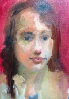 """Study of a Girl"" original fine art by Peggy Schumm"