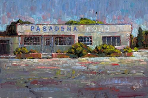 """Pasadena Ford"" original fine art by Raymond Logan"
