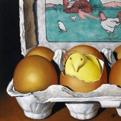 """Easter Challenge: Peeps"" original fine art by Jelaine Faunce"