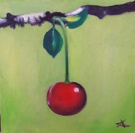 """Cherry 98"" original fine art by Konstantia Karletsa"