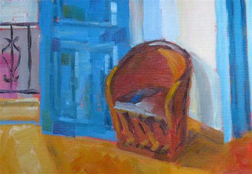 """Take A Seat"" original fine art by Pam Holnback"