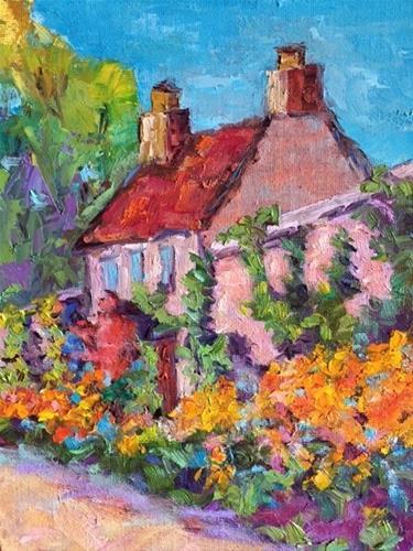 """""""Cottage Garden Scotland"""" original fine art by Liz Zornes"""