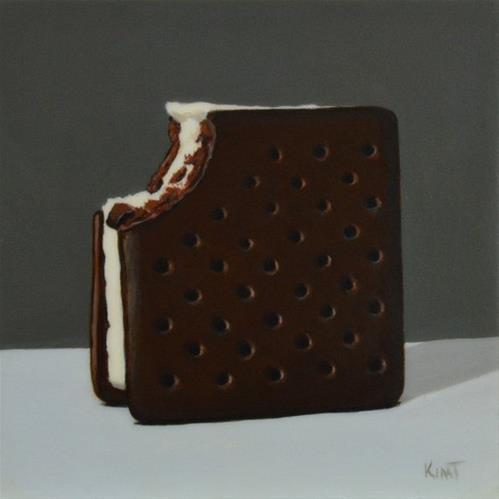 """Ice Cream Sandwich"" original fine art by Kim Testone"