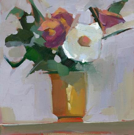 """#1058 Sunbather"" original fine art by Lisa Daria"