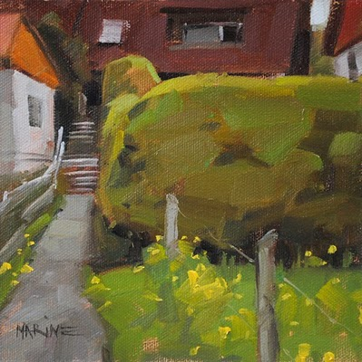 """German Hedgerow"" original fine art by Carol Marine"