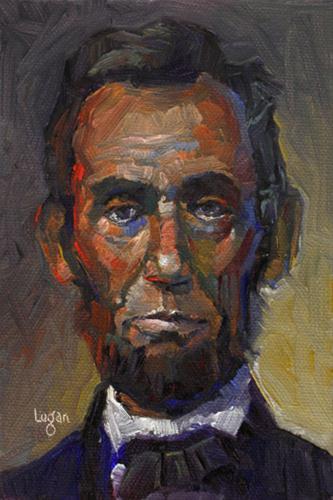 """Lincoln - color"" original fine art by Raymond Logan"