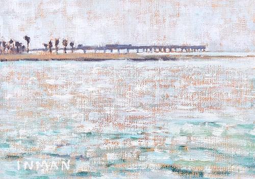 """Ocean Beach Pier, Gray Weather"" original fine art by Kevin Inman"