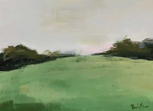 """Green Hillside"" original fine art by Pamela Munger"