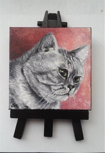 """Custom Cat Portrait"" original fine art by Camille Morgan"