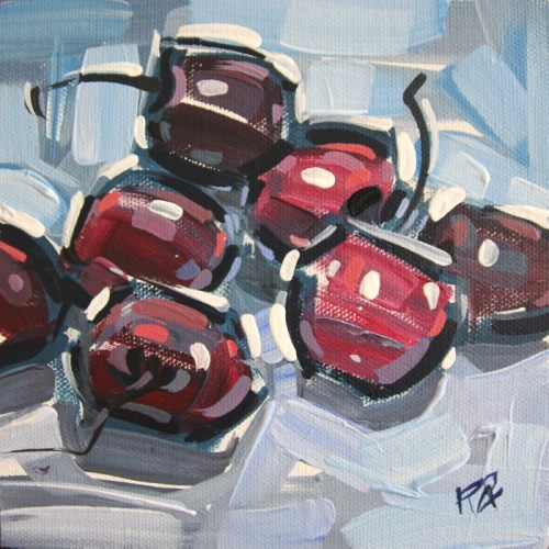 """Rough Cherries 3"" original fine art by Roger Akesson"