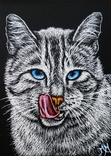 """Yummy!  (ACEO)"" original fine art by Monique Morin Matson"