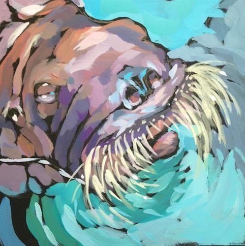"""Open Nostrils"" original fine art by Kat Corrigan"