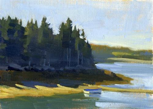 """Painting on the coast of Maine"" original fine art by Kathy Weber"