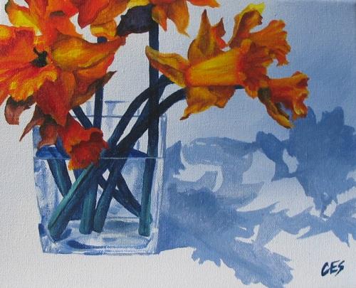 """""""Daffodil Shadows"""" original fine art by ~ces~ Christine E. S. Code"""