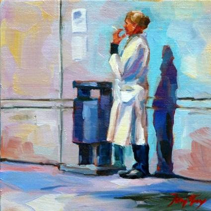 """Pause"" original fine art by Jurij Frey"