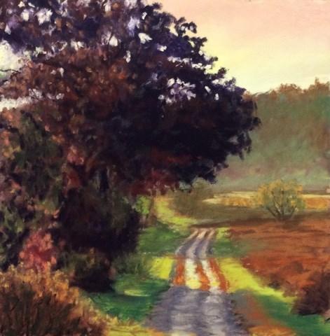 """""""THE WINDING ROAD"""" original fine art by Marti Walker"""