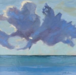 """""""Percolating Purple Clouds"""" original fine art by Janet Bludau"""