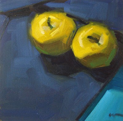 """Golden Blue"" original fine art by Carol Marine"