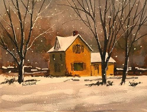 """Barn Liz Camper's House"" original fine art by Steve Gibson"