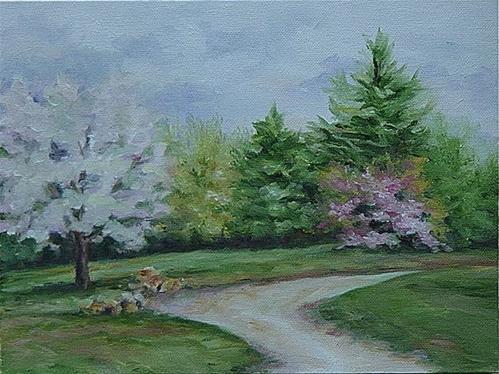 """""""Cherry Blossom Time"""" original fine art by Maria Levandowski"""