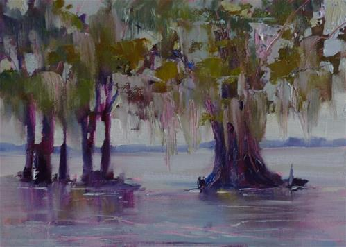 """Sown in the Bayou"" original fine art by Karen Margulis"
