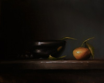 """Bowl and Clementine"" original fine art by Neil Carroll"