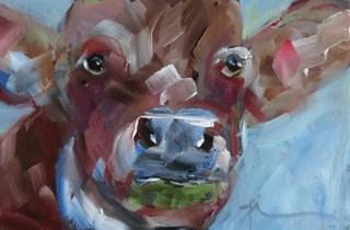 """Chocolate Milk"" original fine art by Gigi ."
