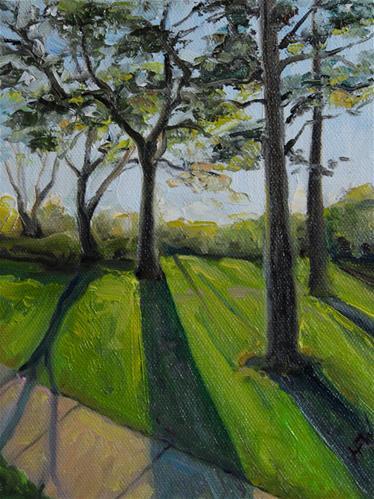 """Colorful Shadows"" original fine art by H.F. Wallen"