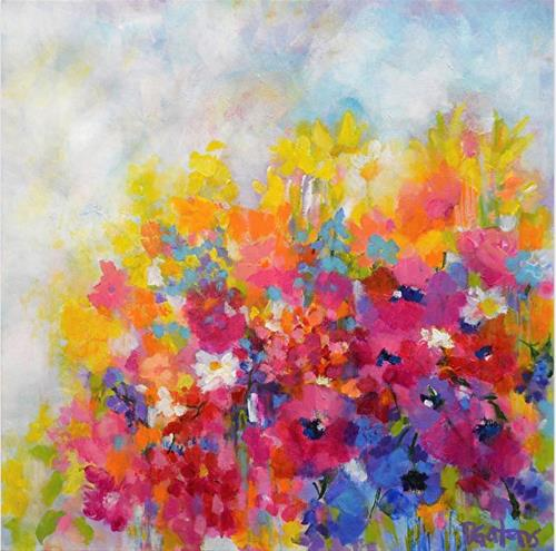 """Garden at Millefiori"" original fine art by Pamela Gatens"