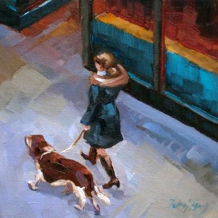 """Spaziergang"" original fine art by Jurij Frey"