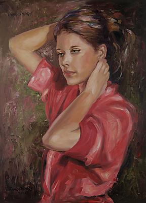 """Scarlet"" original fine art by Denise Henley"