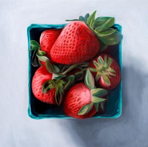 """Strawberry Basket"" original fine art by Lauren Pretorius"