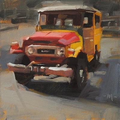 """Multicolored Toyota"" original fine art by Carol Marine"