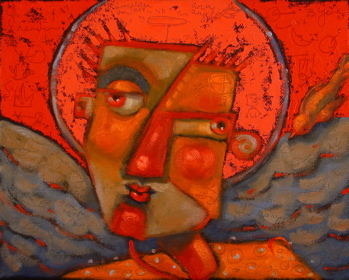 """Christmas Angel Of Commerce"" original fine art by Brenda York"