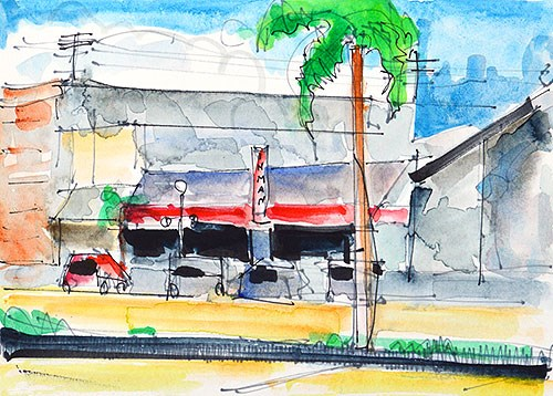 """""""Hillcrest Watercolor Painting"""" original fine art by Kevin Inman"""