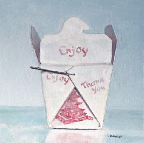 """Enjoy Take Out"" original fine art by Linda Demers"