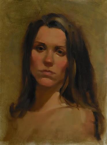 """Portrait"" original fine art by Kathy Weber"