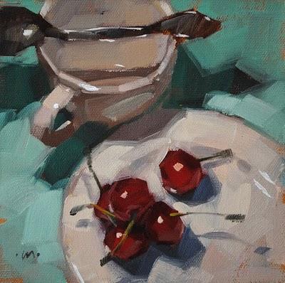 """Obstacle Course"" original fine art by Carol Marine"