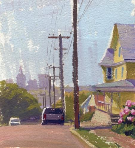"""Sketching in color"" original fine art by Kathy Weber"