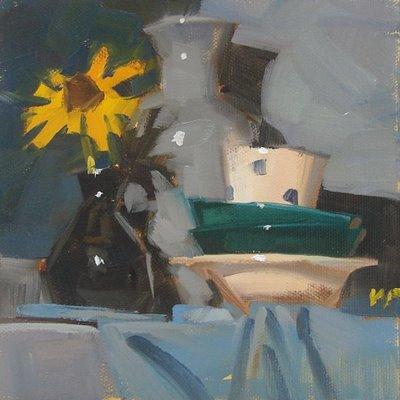 """Look, the Sun!"" original fine art by Carol Marine"
