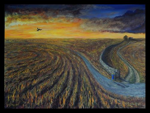 """""""The Winding Road"""" original fine art by Captain B Smith"""