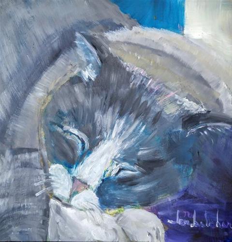 """Snoozin'"" original fine art by Lou Belcher"