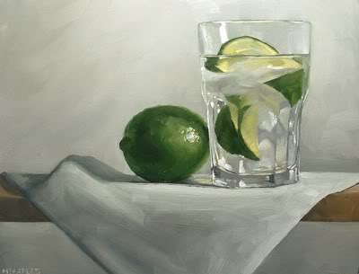 """Lime with Glass"" original fine art by Michael Naples"