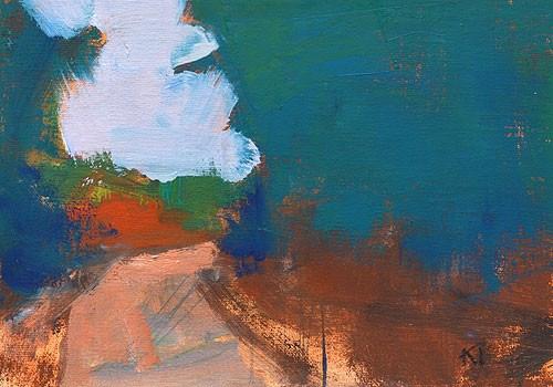 """Overcast, Laguna Canyon"" original fine art by Kevin Inman"