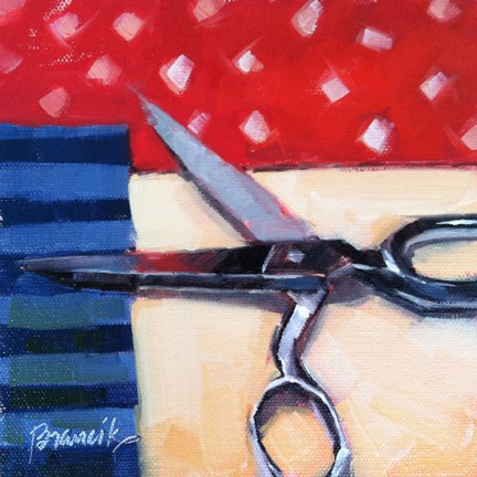 """""""Memorial Day Quilting"""" original fine art by Candace Brancik"""