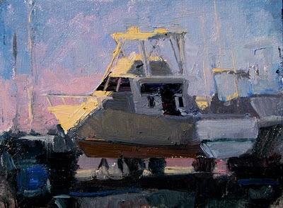 """Boat Study"" original fine art by V.... Vaughan"