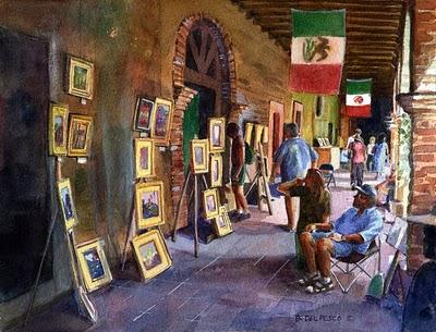 """Watercolor: Chesley at Capistrano"" original fine art by Belinda Del Pesco"