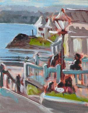 """Bastion Square"" original fine art by Darlene Young"